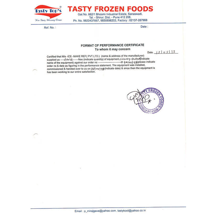 Tasty Frozen Food