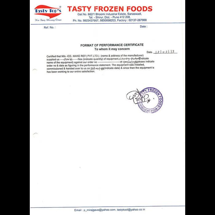 Tasty Frozen Food